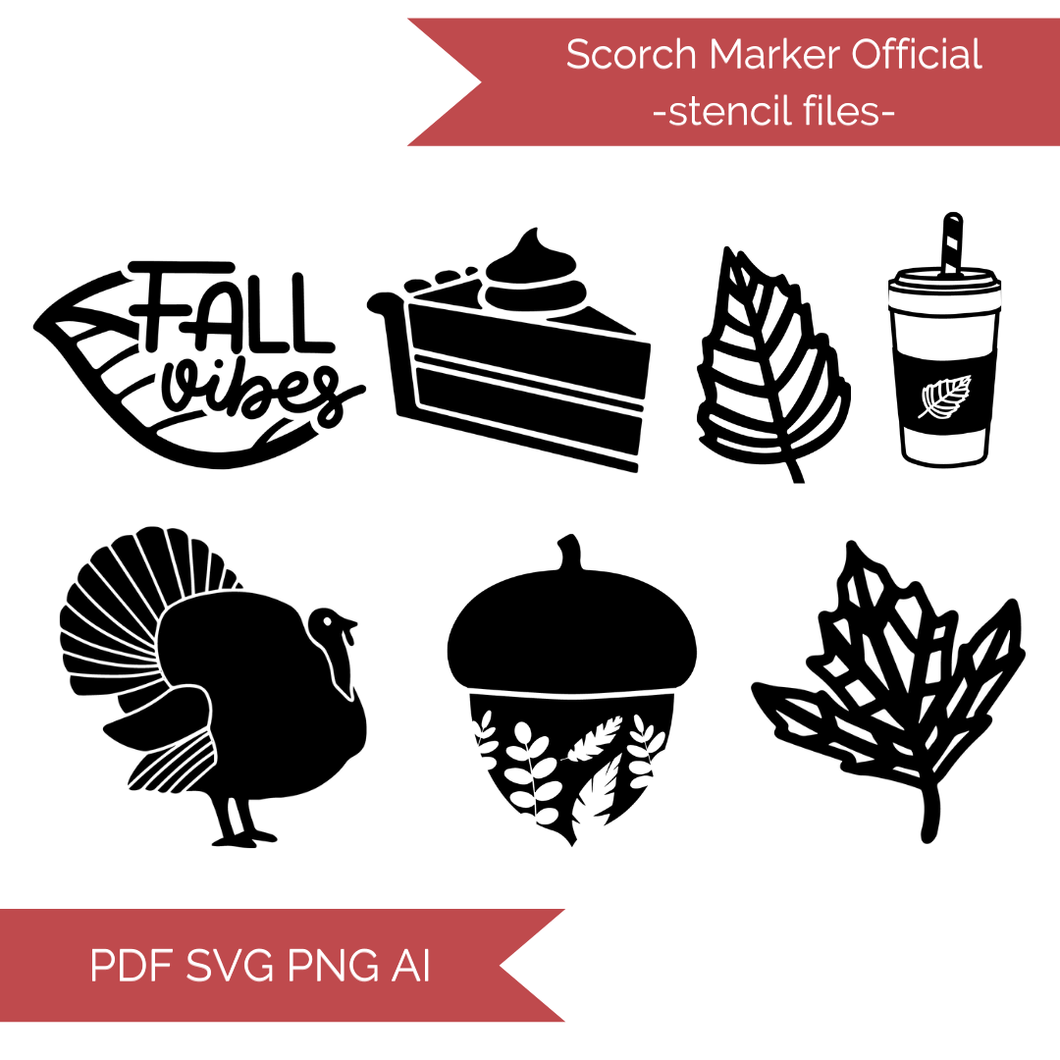 Fall Stencil Files! 2020 [AI SVG PNG DXF]