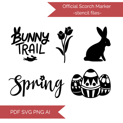Spring Stencil Cut Files! 2021 [AI SVG PNG DXF]