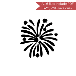 New Years Stencil Cut Files! 2021 [AI SVG PNG DXF]