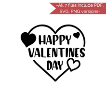 Load image into Gallery viewer, Valentine's Day Stencil Cut Files! 2021 [AI SVG PNG DXF]