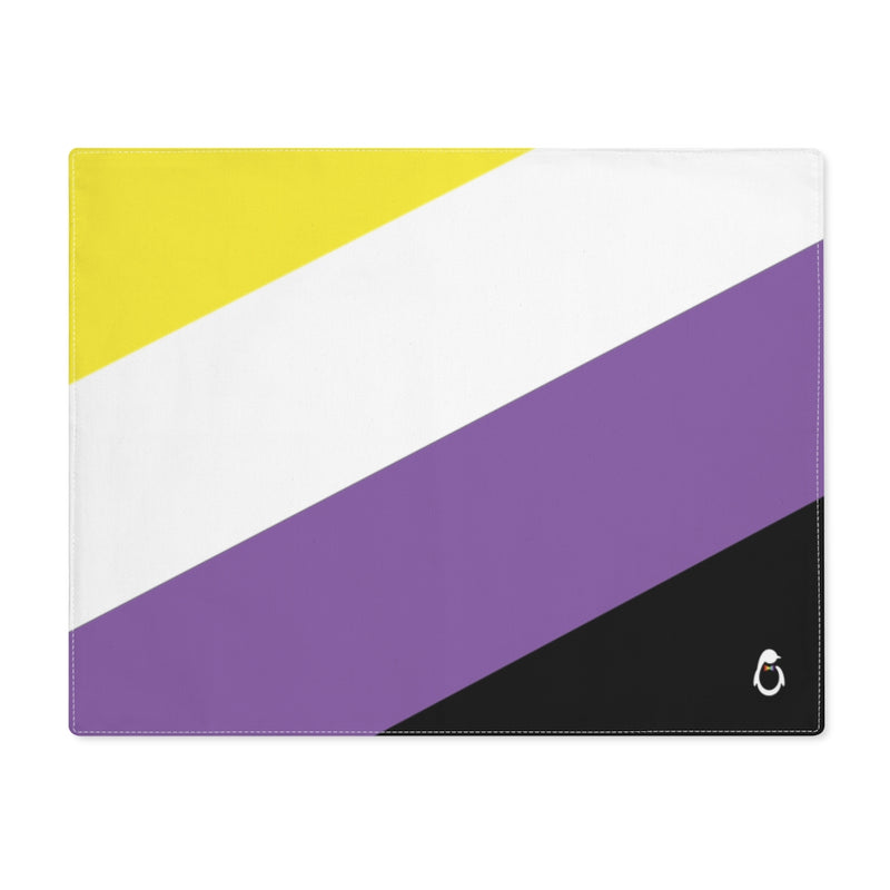 Non-Binary Pride Flag Placemat - top view