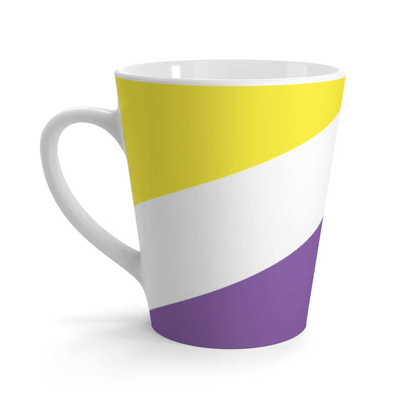 Non-Binary Pride Flag Coffee Mug side view with handle