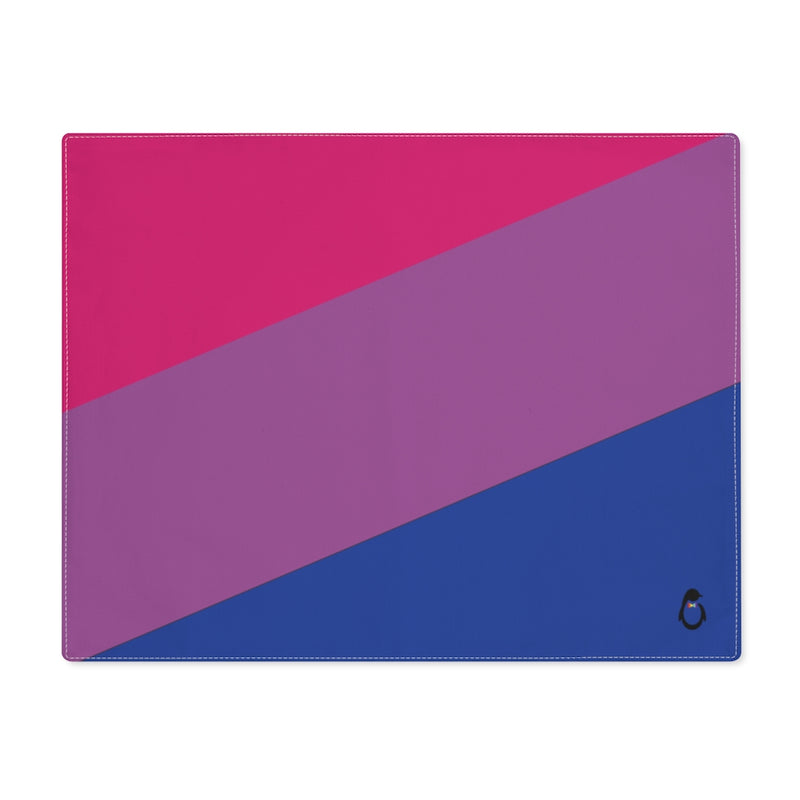Bi-Sexual Pride Flag Placemat - top view
