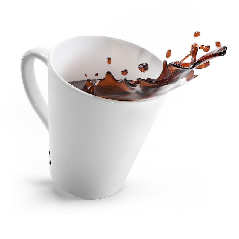 White Mug - Angled View with Coffee Splashing Out