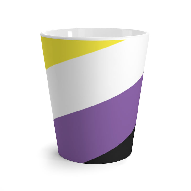 Non-Binary Pride Flag Coffee Mug side view