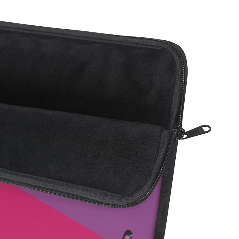 Close-up of Unzipped Bi-sexual Laptop Sleeve - Soft Black Interior