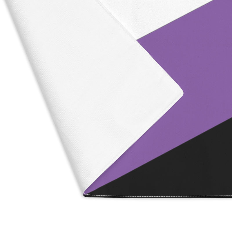 Non-Binary Pride Flag Placemat - close up with corner flipped to see white back