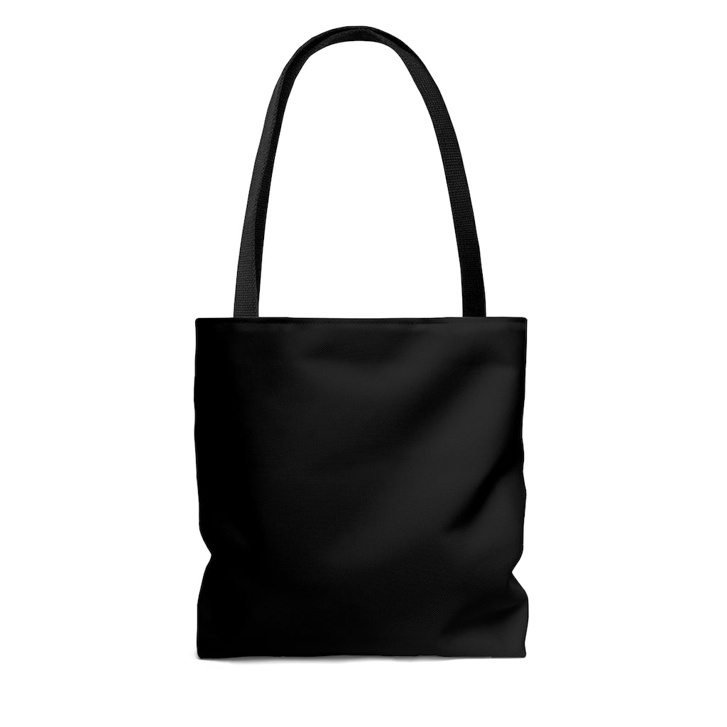 Black Tote Bag with Dash of Pride Penguin Logo - Back Side No Design