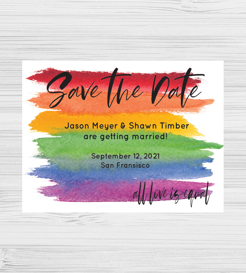 NEW - All Love Is Equal Save the Dates