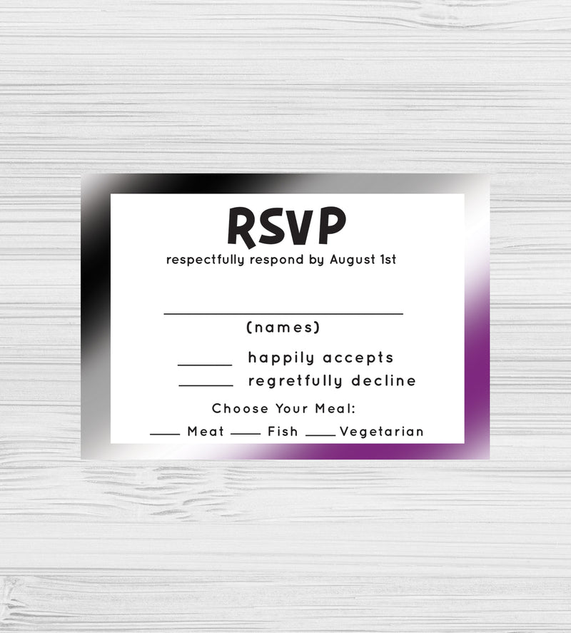 NEW -  Asexual RSVP