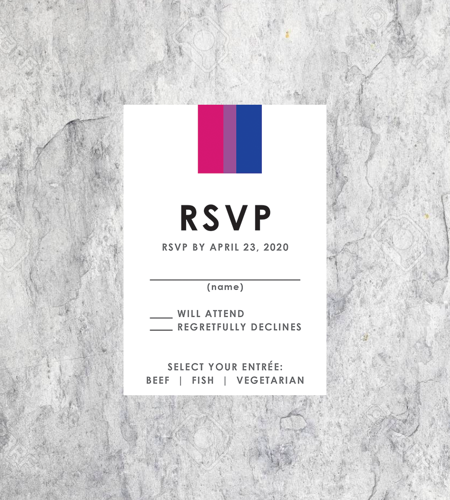 LGBTQ Bisexual Wedding RSVP