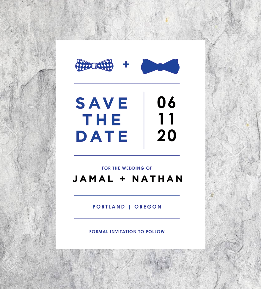 Bowtie Save the Dates