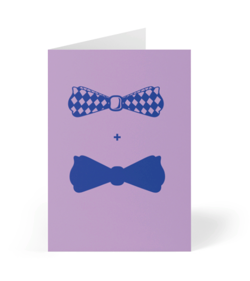 Bowties LGBT Greeting Card