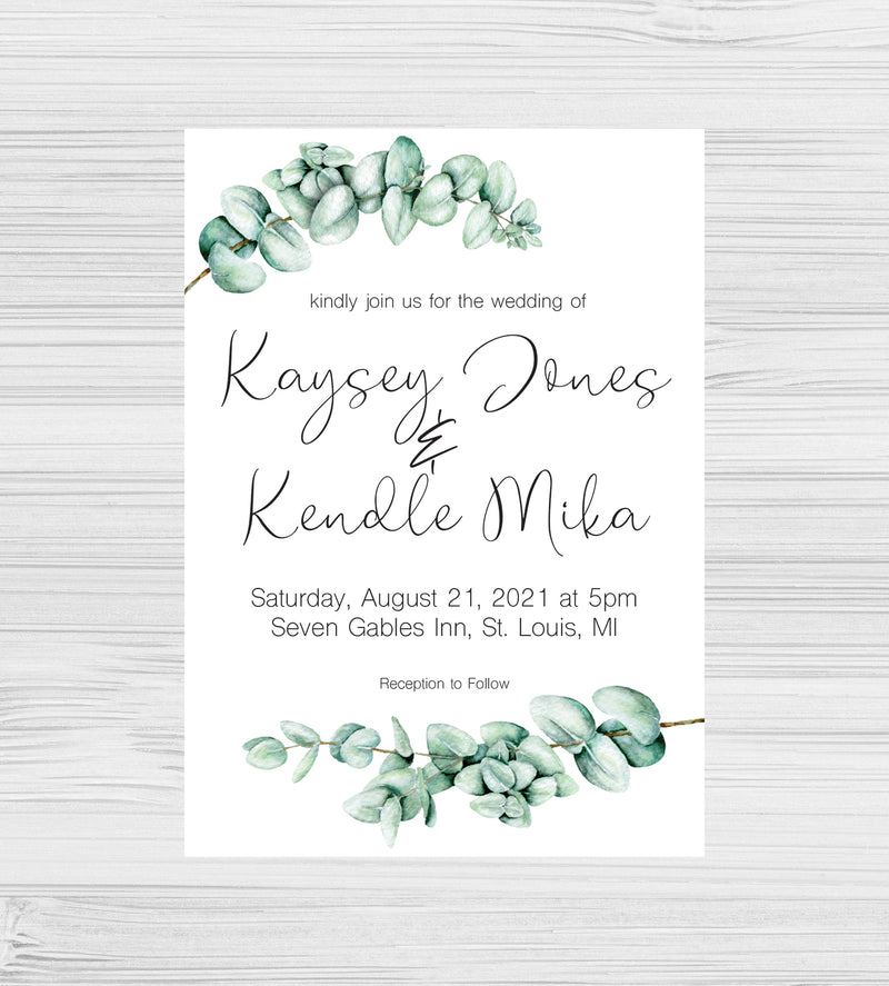New - Eucalyptus Invitations