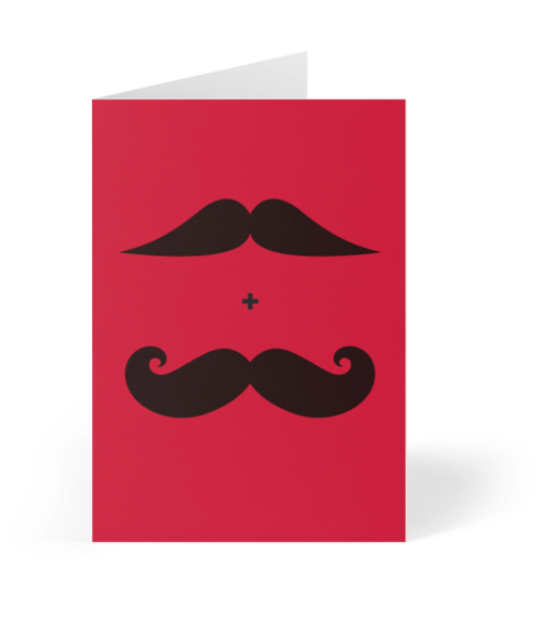 Mustaches LGBT Greeting Card