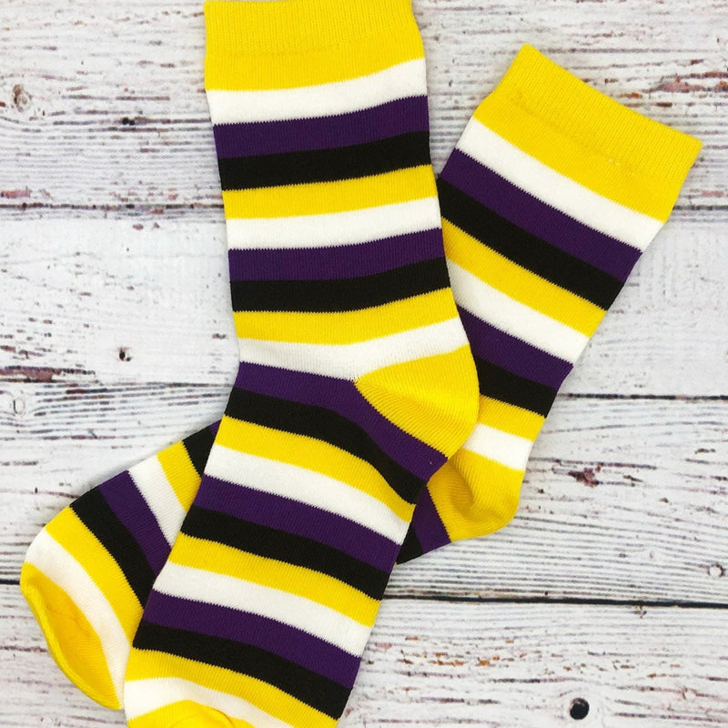 Non-BInary Pride Flag Striped Socks