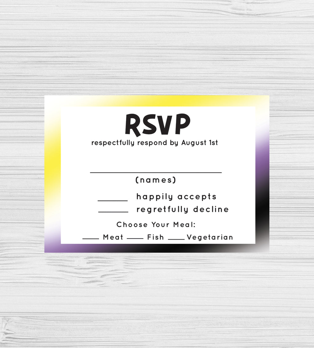 NEW -  Nonbinary RSVP