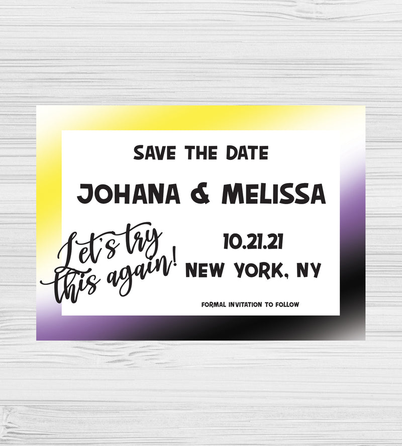 LGBTQ Nonbinary Wedding Save the Date