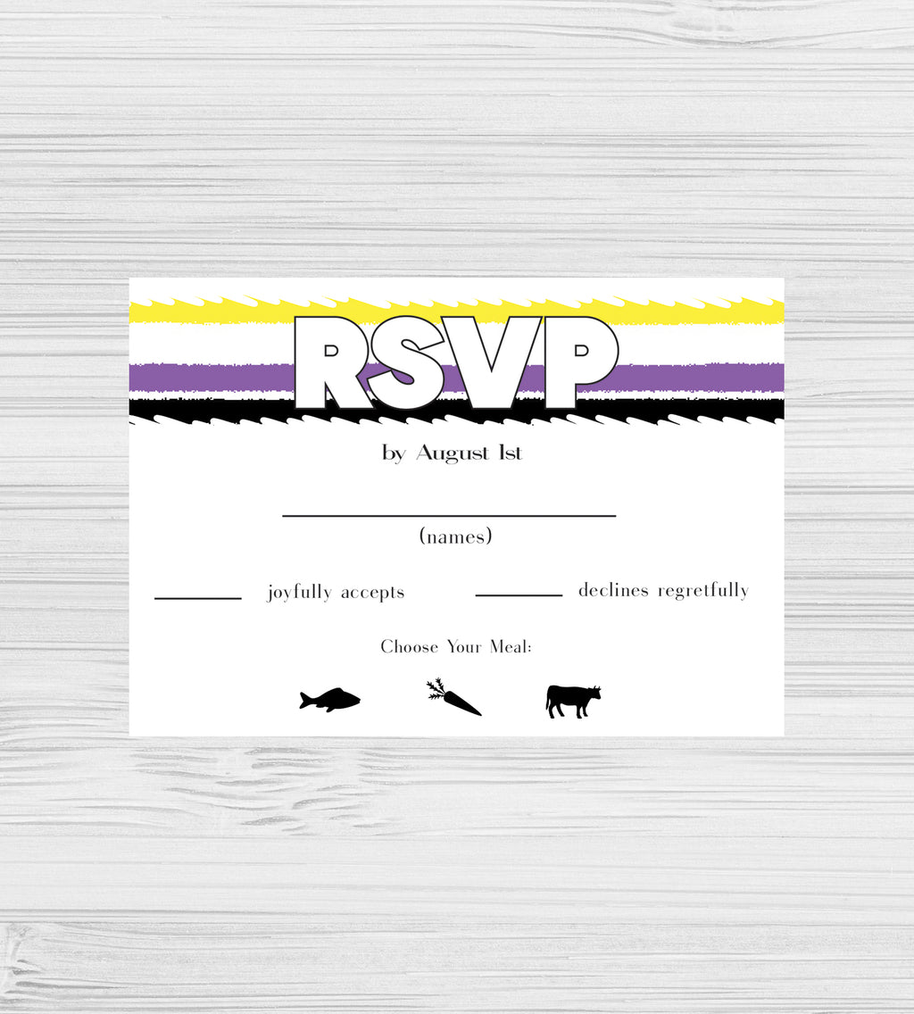 NEW -  Nonbinary Tear RSVP