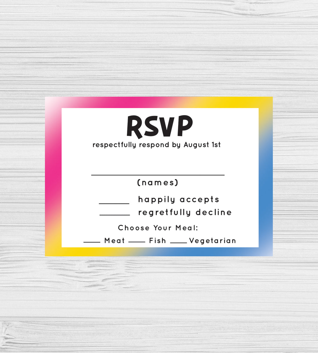 NEW -  Pansexual RSVP