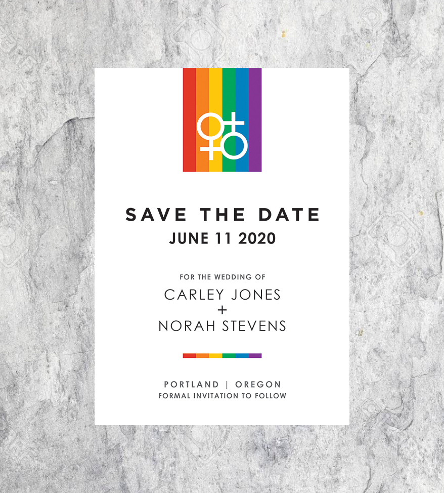Rainbow Female Icon Save the Dates