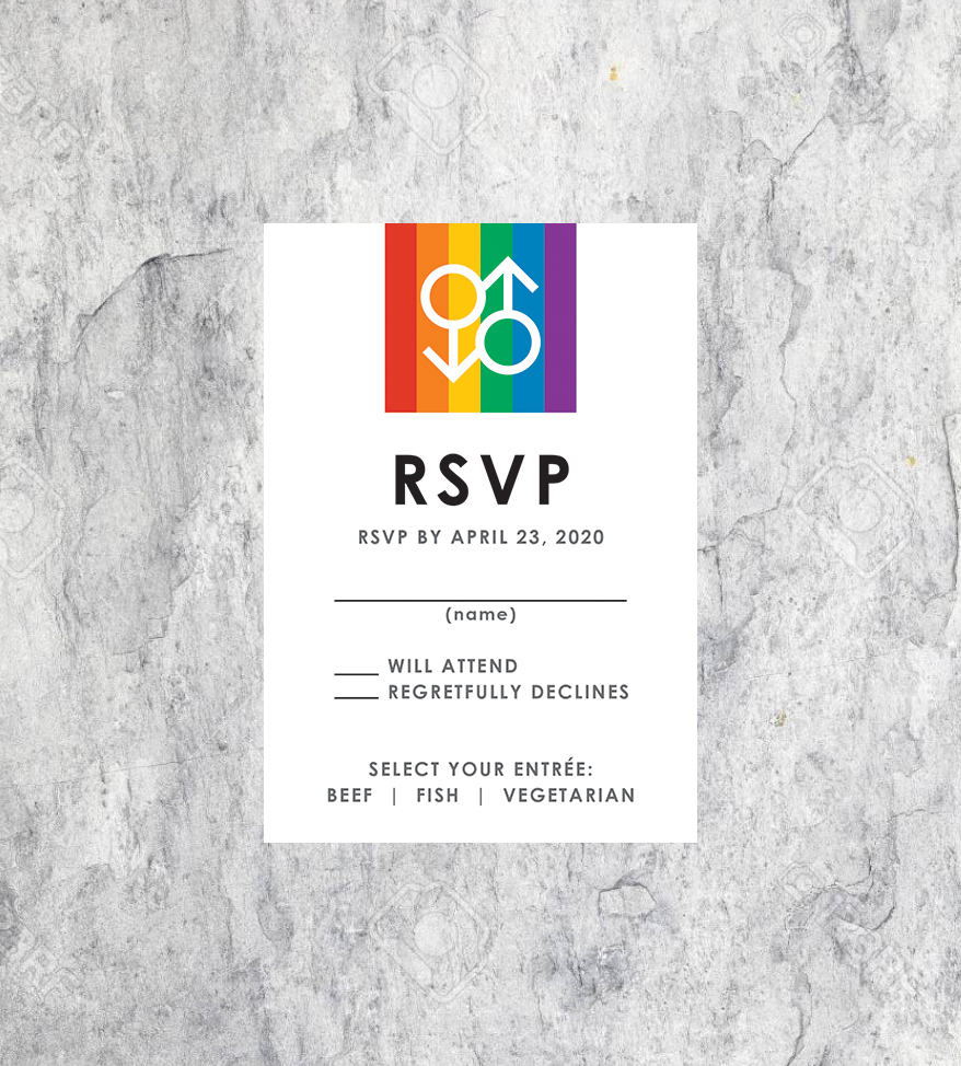 LGBTQ Gay Wedding RSVP