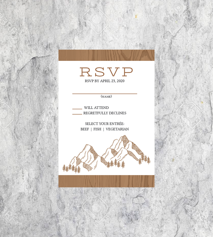 LGBTQ Rustic Wedding RSVP