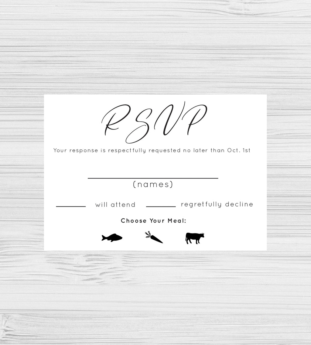 NEW -  Simple Elegance RSVP