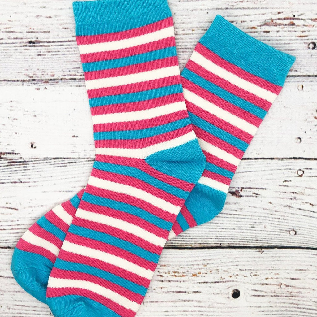Transgender Pride Flag Striped Socks