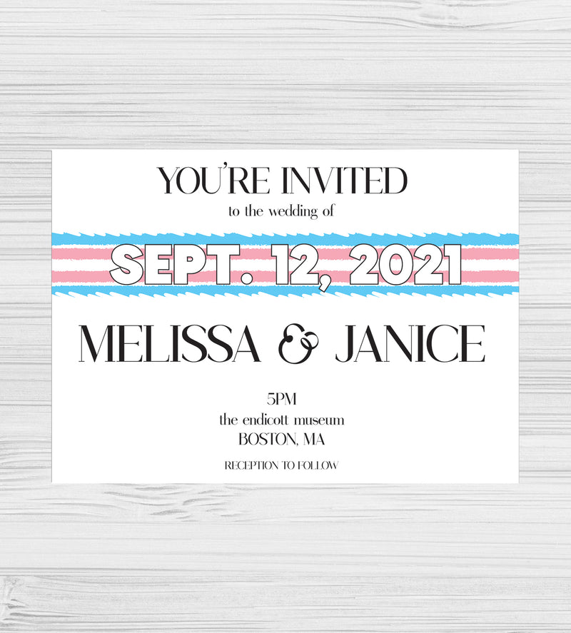 New - Transgender Pride Tear Invitations