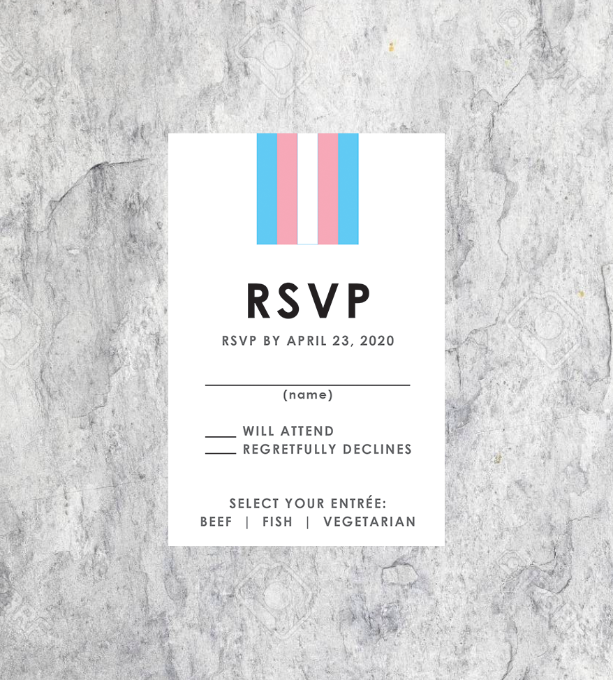 LGBTQ Transgender Wedding RSVP