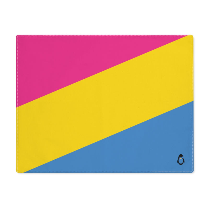 Pan-Sexual Pride Flag Placemat - top view