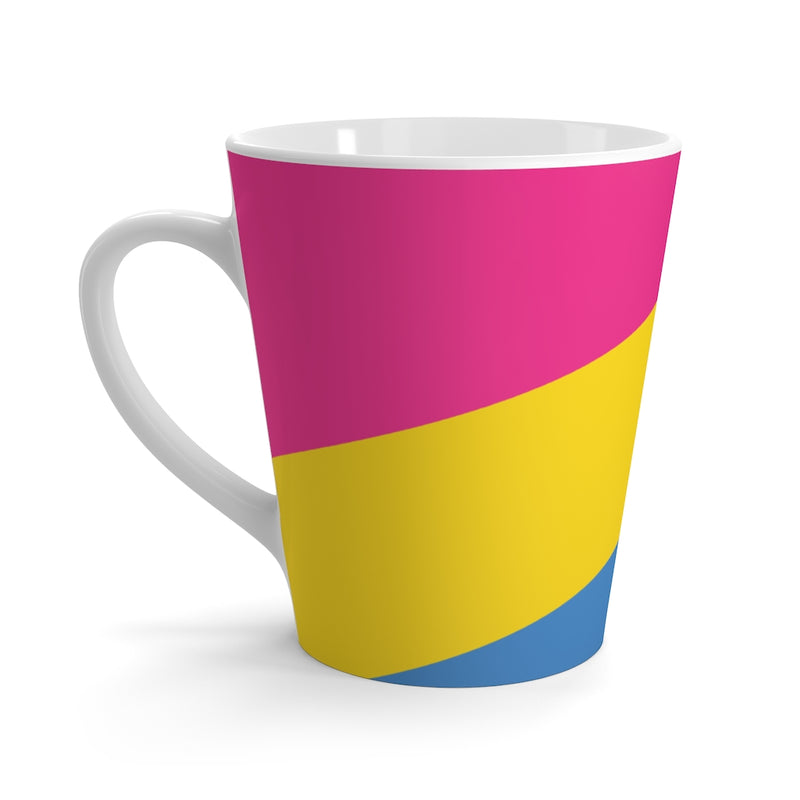 Pan-Sexual Pride Flag Coffee Mug - Side View with Handle