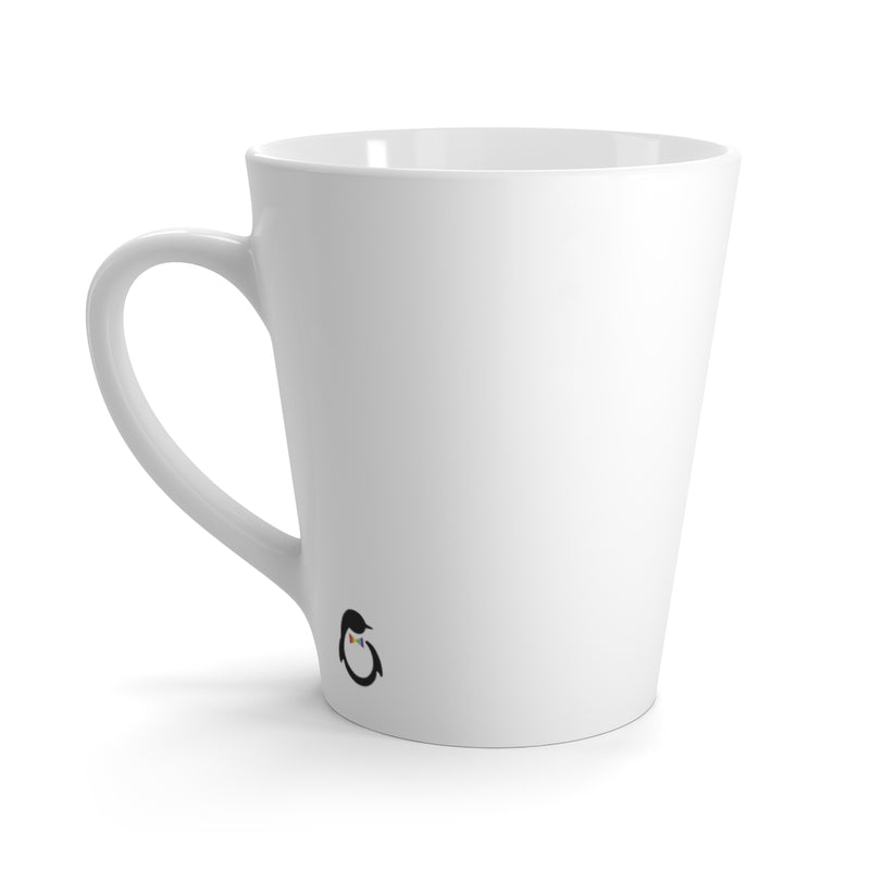 White Mug - Back View with Penguin Dash of Pride Logo