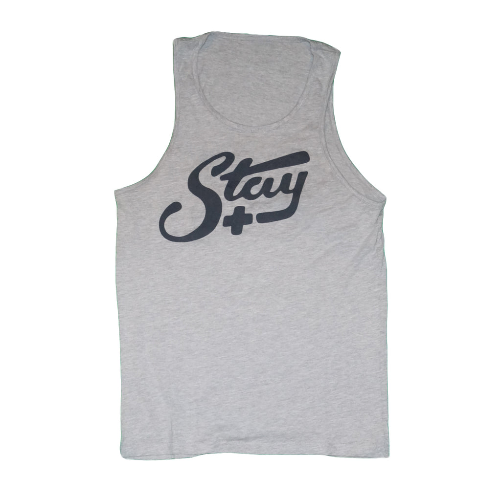 Men's Stay Positive Calligraphy Tank