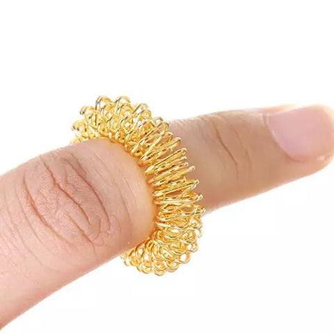 Acupressure Finger Massage Rings (Pair)