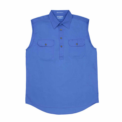 Just Country Mens 'Jack' Sleeveless 1/2 Button Work Shirt (10103)