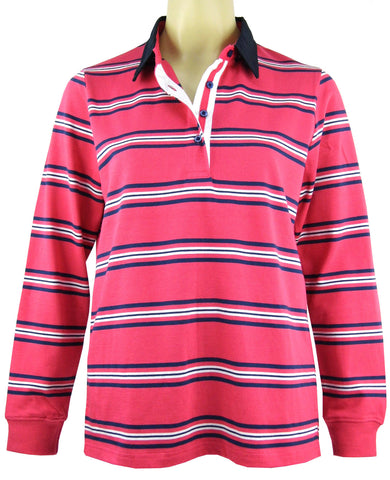 *Equinox Womens Stripe Rugby (1044)