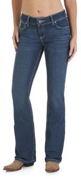 Wrangler Womens Premium Patch Booty Up Sits Above Hip Jean (10MWZWJ)
