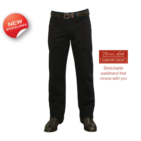 Thomas Cook Mens Stretch Moleskin Jean – Black (TCP1237007, TCP1239007 & TCP1241007)