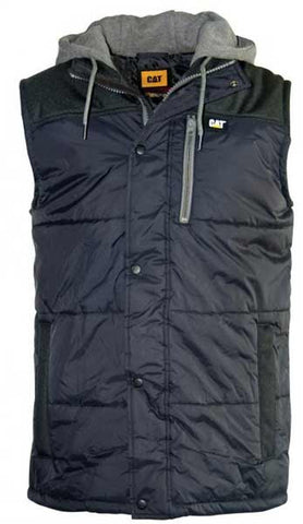 *Caterpillar Mens Hooded Work Vest (1320008)