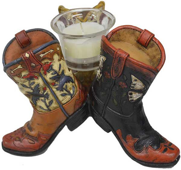 Thomas Cook Pure Western Triple Boot Candle Holder (P6W1916GFT)