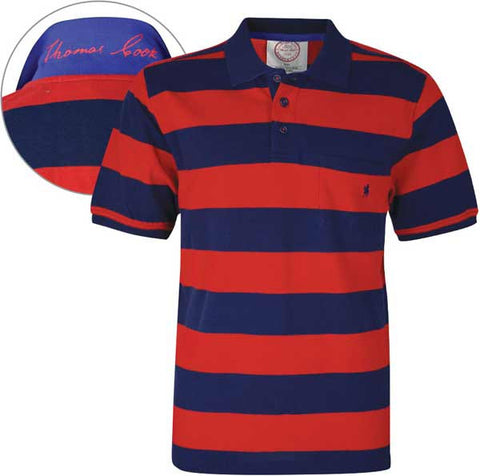 *Thomas Cook Mens Anglesea Stripe 1-Pocket S/S Polo (T6S1509021)