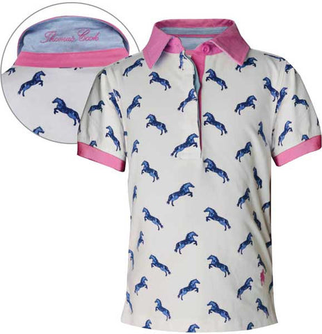 *Thomas Cook Girls 'Arrowfield' Stud Print S/S Polo (T6S5500059)