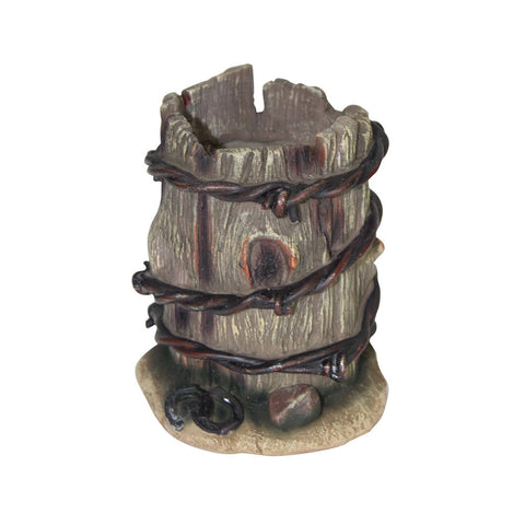 Thomas Cook Pure Western Barbwire Wooden Look Round Pen Holder (PCP1903GFT)