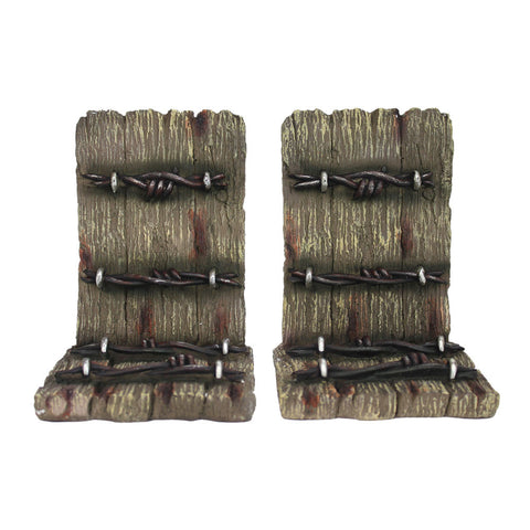 Thomas Cook Pure Western Barbwire Wooden Look Bookends (PCP1905GFT)