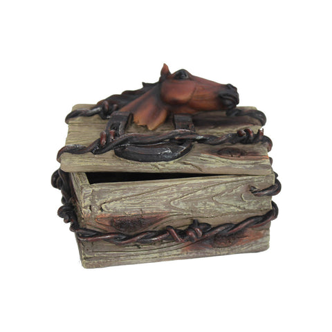 Thomas Cook Pure Western Barbwire Horse Jewellery Box (PCP1909GFT)