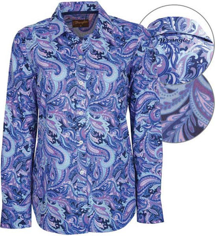 Wrangler Womens 'Nellie' Print Button Down L/S Shirt (X7W2126113)