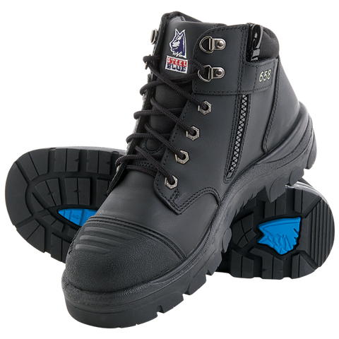 Steel Blue 'Parkes' Zip Scuff Cap Boot (312658)