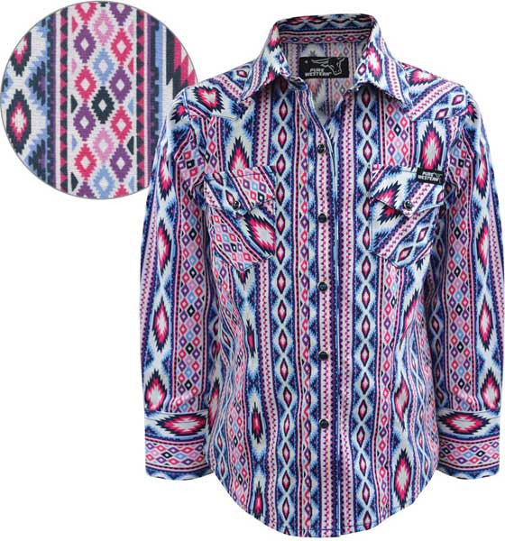 Thomas Cook Pure Western Girls Tamsin Print L/S Shirt (P7W5100076)